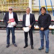Pius Strobl, Projektleiter ORF-Medienstandort, ORF-Generaldirektor Alexander Wrabetz, Architekt Paul Jung