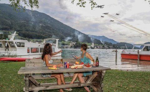 Flying Bulls sorgten im Sunset Wing Club am Wolfgangsee für gute Stimmung