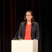 SRF Direktorin Nathalie Wappler im Rahmen einer Personalinformation via Livestream