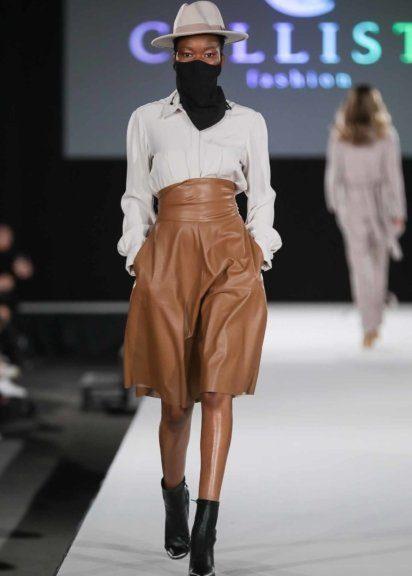 Leder spielt in den Designs von Martina Mueller eine tragende Rolle