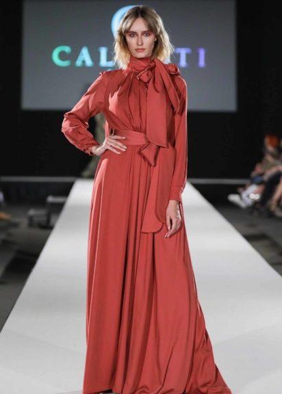 Bodenlanges rotes Kleid von Callisti