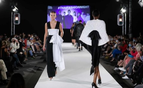 Models am Laufsteg in Mode von Klär Lov bei der Vienna Fashion Week 2020