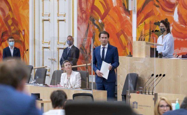 Rede von Bundeskanzler Sebastian Kurz im Nationalrat