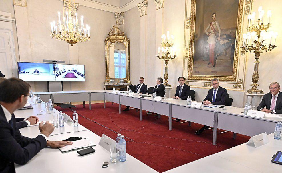 Treffen zwischen Bundesregierung und Ländervertretern zur Coronakrise