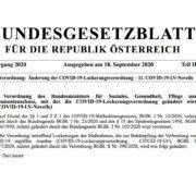 COVID-19-Lockerungsverordnung vom 18. September 2020