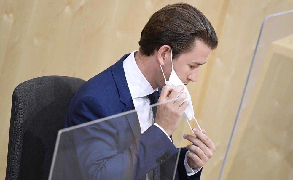 Bundeskanzler Sebastian Kurz im Rahmen einer Sondersitzung des Nationalrates