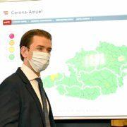 Bundeskanzler Sebastian Kurz (ÖVP) anlässlich einer PK zum Start der Corona-Ampel