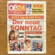 """""""oe24"""" erweitert die Sonntagszeitung um drei Magazine"""