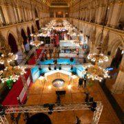 Medienzentrum am Wahltag im Wiener Rathaus