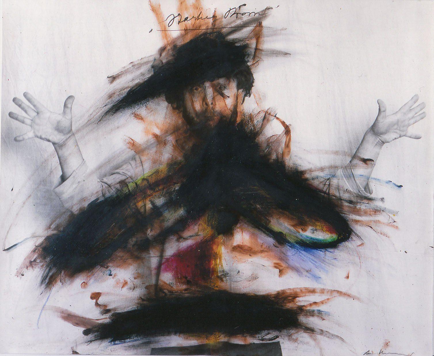 """Arnulf Rainer - """"Starker Strom"""", Anfang der 1970er Jahre steht bei der 52. Art & Antique zum Verkauf"""