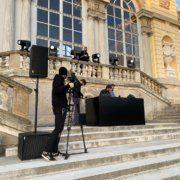 Dreharbeiten in Schönbrunn von Topdestination.tv