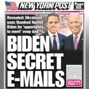 """Ausgabe der Zeitung """"New York Post"""" vom 14. Oktober 2020"""