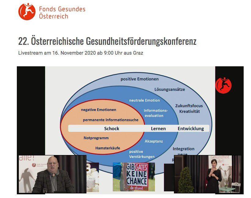 22. Österreichische Gesundheitsfšrderungskonferenz Online