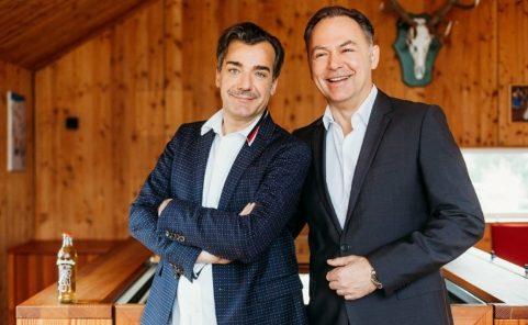 Almdudler Chef Heribert Thomas Klein mit Geschäftsführer Gerhard Schilling