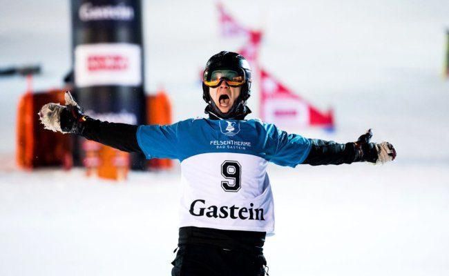 Dmitri Alexejewitsch Loginow beim FIS Snowboard World Cup in Bad Gastein