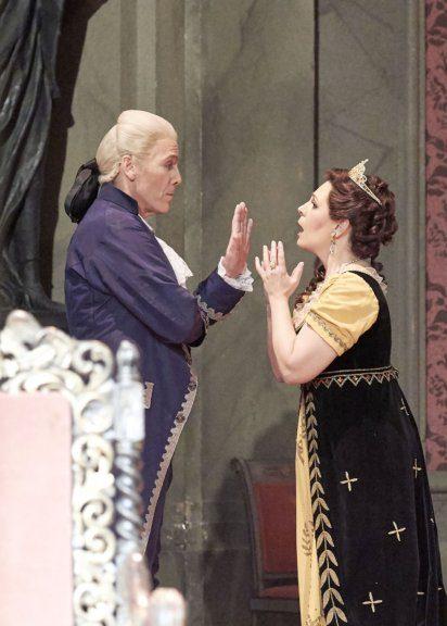 Thomas Hampson und Sondra Radvanovsky in der Oper Tosca an der Wiener Staatsoper