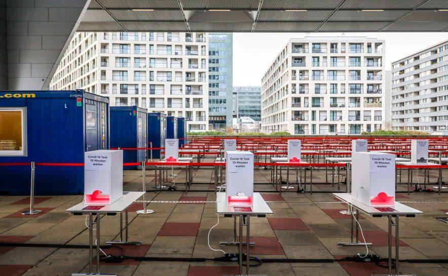 Teststraße für Covid-19-Tests beim Austria Center Vienna