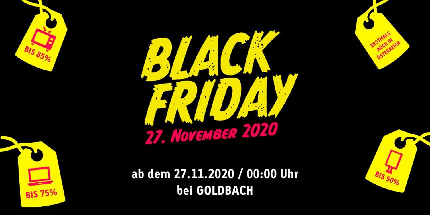 Black Friday & Cyber Monday bei Goldbach Austria