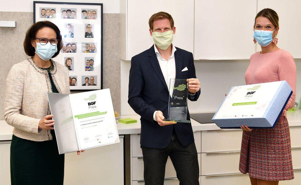 Verleihung BGF-Preis für Wien 2020 an Limesoda GF Philipp Pfaller