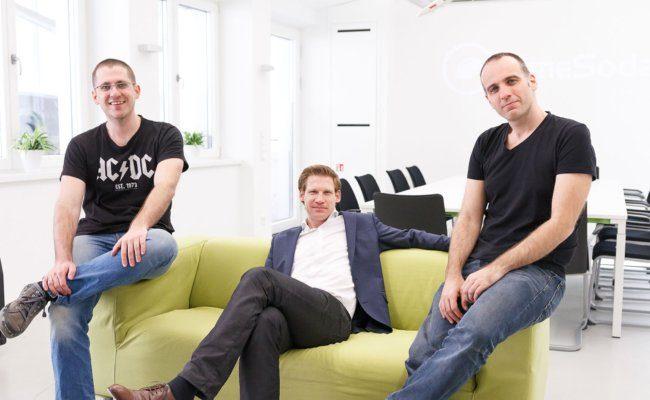 Limesoda Geschäftsführer Bernd Pfeiffer, Philipp Pfaller und Klaus Feiler