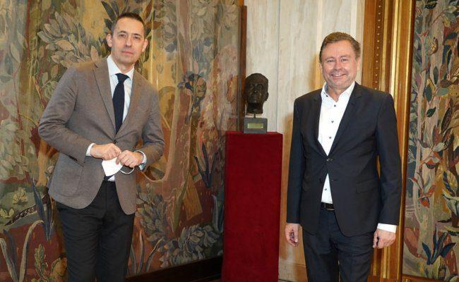 Bogdan Roščić und Alexander Wrabetz sprechen über gemeinsame Projekte