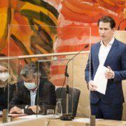 Bundeskanzler Sebastian Kurz anlässlich der 75. Sitzung des Nationalrates
