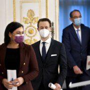 Köstinger, Blümel und Faßmann geben Pressekonferenz