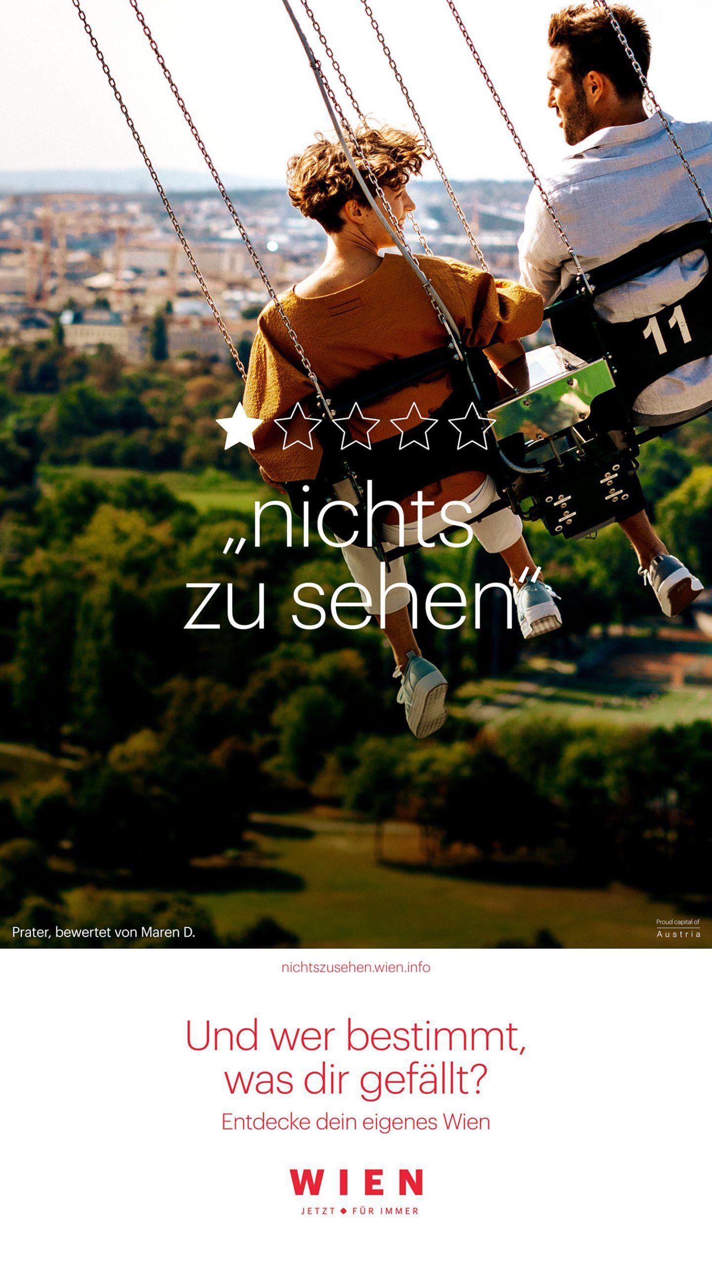 WienTourismus Kampagne Unrating Vienna gewinnt Eurobest Award