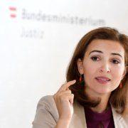 Justizministerin Alma Zadic erhält Spruch vom Verfassungsgerichtshof wegen Schwärzung des Ibiza-Videos