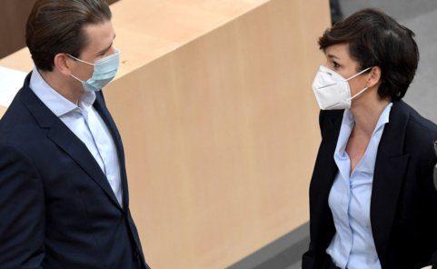 Bundeskanzler Sebastian Kurz (ÖVP) und SPÖ-Chefin Pamela Rendi-Wagner