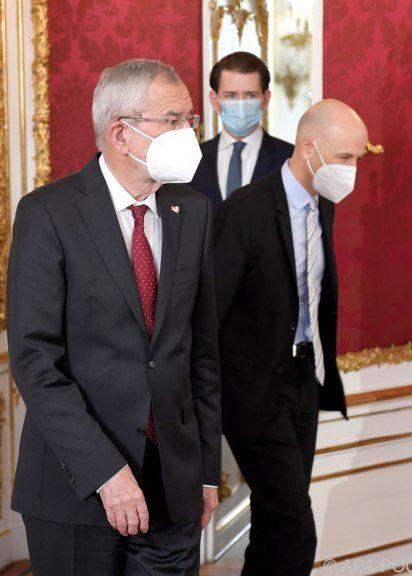 Angelobung von Martin Kocher durch Bundespräsident Van der Bellen